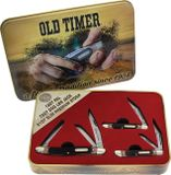 Schrade Old Timer Gift Set Brown