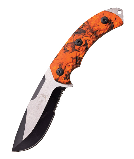 108 Hunters Ridge: Elk Ridge Fixed Blade Hunter Orange Camo ER537OC