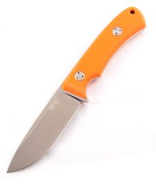 TRC Knives K-1s Orange G-10/ Leather