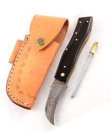 Exkluzív damaszk gombász kés bivaly szarv markolattal kézzel készített