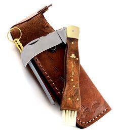 Exkluzív gombász kés kézzel készített