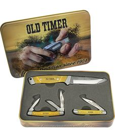 Schrade Old Timer Gift Set Yellow